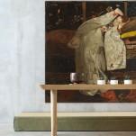 Breitner-meisje in witte Kimhno-Arte Suite